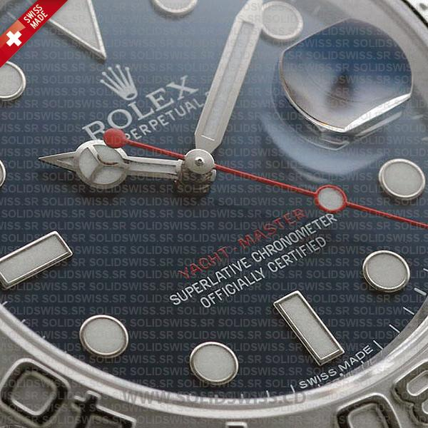 Rolex Yacht-Master Platinum 904L Stainless Steel Blue Dial