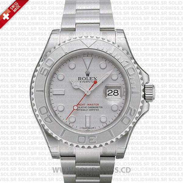 Rolex Yacht-Master II Platinum Silver Dial 40mm Replica Watch